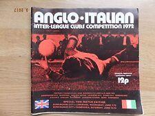 ANGLO ITALIAN INTER LEAGUE Club concorrenza-GIUGNO 1972