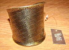 "Antique Finish Gold Cuff Bracelet  (Global & Vine, 4049077) 2 3/4"" Wide"