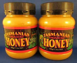 Tasmanian Meadow Honey, 100% Pure, Natural, 2 * 500gms PET jars, free shipping