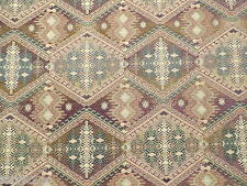 Brown Persian Inspired Aztec Star Pattern Fire Retardant Upholstery Fabric