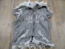 NOLITA POCKET stylishe Weste mit Kapuze und Rüschen grau Gr. 12 J TOP  RC1117