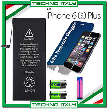 BATTERIA PER APPLE IPHONE 6S PLUS 2750 mAh CAPACITA ORIGINALE - 0 CICLI + VETRO