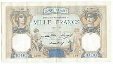 Gertbrolen 1000 FRANCS Cérès et Mercure du 19 Novembre 1936   E.2653