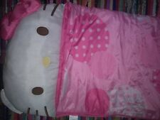Super Cute Pink Hello Kitty Sleeping Bag Attached Pillow, polka dots,bow,camping