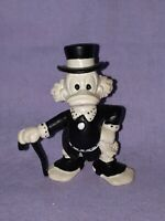 Walt Disney Scrooge McDuck Black and White PVC Toy Cake Topper Figurine Bully