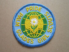 Palm Glades Pride Girl Scouts Girl Guides Woven Cloth Patch Badge