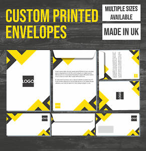 Custom Printed  DL C4 C5 Envelopes Personolised Letters Business Wedding Party