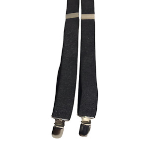 Girls Women's Black  Slim Y-Shape Adjustable 3-Clip Braces Suspenders