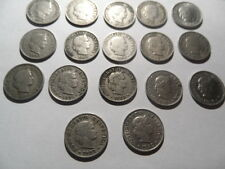 A Group Of 17 Swiss 5 Rappen-1884-1964!!