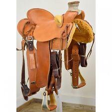 "Used 16"" DW Dixon Saddles Cliff Wade Ranch Saddle Code: U16DWDIXONCWSO"