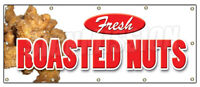 ROASTED NUTS BANNER SIGN fresh hot signs stand peanuts