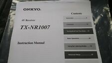 Instruction manual for Onkyo TX-NR1007