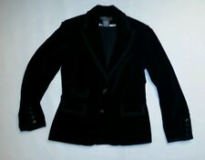 "Women's size 4 black velur jacket by ""George""designed by Mark Eisen!"