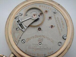 The Studebaker 323 South Bend - 17J adj temp & 5 Pos 18s pocket watch