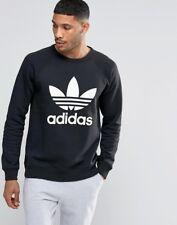 Men's Adidas Trefoil Crew Black Sweater [Ay7791/Xx-Large]