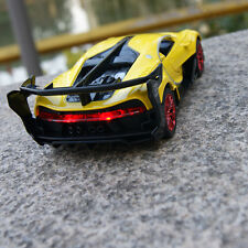 Bugatti Vision Model Cars Concept 1:32 Sound&Light Alloy Diecast Yellow Toy Gift