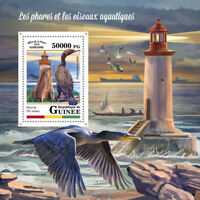 Guinea 2018 MNH Lighthouses & Waterbirds 1v S/S Cormorants Birds Stamps
