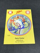 GARY CARTER  1982 Zellers 19 A  AUTO  Signed  Montreal Expos  New York Mets  HOF