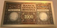 Romania German Occupation WWI Banca Generala Romana 1000 Lei 1917 polymer silver