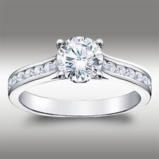 1.49 CT Brilliant Round Cut Engagement Ring Lab Diamond Solid 14k White Gold