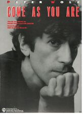 "PETER WOLF ""COME AS YOU ARE"" SHEET MUSIC-PIANO/VOCAL/GUITAR/CHORDS-1987-RARE-NEW"