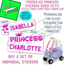 N.E.stickers personalised number plates TO FIT Little Tikes Cozy Coupe FAIRY car