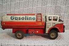 vtg old TIN metal SHELL OIL GASOLIINE TANKER TANK TRUCK INTERNATIONAL Japan rare
