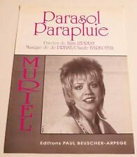 Partition vintage sheet music MURIEL : Parasol Parapluie * 90's Jo PRIVAT