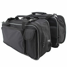 MOTORCYCLE LARGE TWIN BLACK SPORTS PANNIER BAGS MOTORBIKE/BIKE STORAGE PANNIERS