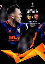Programme Valencia v Arsenal 2019 Europa League