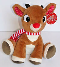Rudolph the Red-Nosed Reindeer Plush Baby Toy, Crackle Sound Kids Preferred New