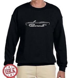 1968 1969 Dodge Coronet Convertible Classic Outline Design Sweatshirt NEW