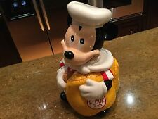 "Vintage Disney Mickey Mouse Chef Cookie Jar Hoan 11"""