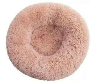 Pawamore Soft Anti Stress Anxiety Pet Calming Donut Cushion Cat Dog Bed Pink - S