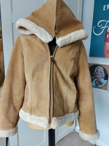 Baby Phat Leather  Suede Short Jacket Size XL. Golden Brown Colour - Used