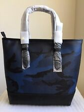 NWT COACH MENS HENRY TOTE IN INDIGO CAMO COATED CANVAS F57565 $495