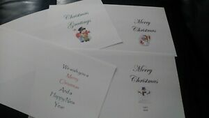 20 5 x 5 Christmas card inserts