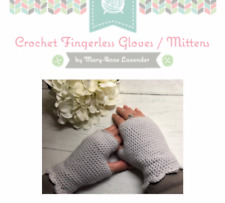Fingerless Gloves Pattern | Crochet Mittens | UK Terminology