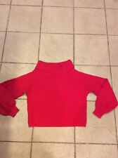 forever 21 contemporary Red Cowl Neck Ribbed Sweater Size M
