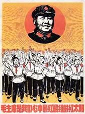 Propaganda Rosso Cina COMUNISTA MAO SORRISO BOOK STAR poster art print bb2701b