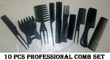 10 piece Hair Styling Comb Set Professional Black Hairdressing dye Brush Barbers