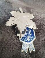 BOND BOYD Vintage Silver Maple Leaf Brooch Bond Boyd 925 Sterling with tag new