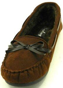Women's Warm Winter Comfortable Fur Moccasin Round Toe Slip On Flat Shoe sz 5-10