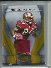 Michael Robinson 2008 Leaf Certified Mirror Gold Game Used Jersey Patch #24/25