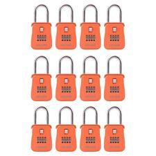 Cerraduras de León almacenamiento clave 1500 Caja de bloqueo inmobiliario con combinación, (12 Pack, naranja)