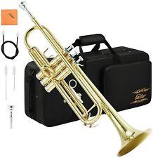 Trompete Instrument inkl Koffer Mundstück Reinigungstuch ETR-380 Blasinstrument