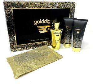 Golddigga 100ml EDP 4 Piece Perfume Body Wash & Lotion Women gift Set With Purse