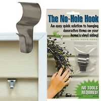 CWI Gifts Low Profile No Hole Hook, 1.5-Inch, 2 Hangers, New, Free Shipping