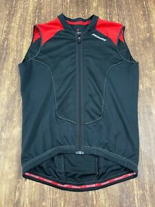 Specialized Men's Black/Red Sleeveless Full Zip Down Cycling Jersey - Medium