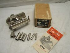 Stanley No. 59 Vintage Dowel Jig w/Box & Cutters Cutting Woodworking Wood Tool